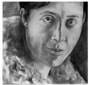 Ritratto a matita di Irène Némirowsky realizzato da Phong Bui nel 2005